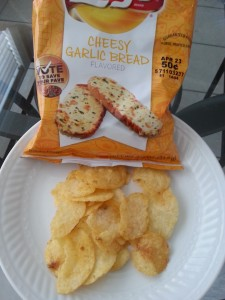 Cheesy Garlic Bread Chips